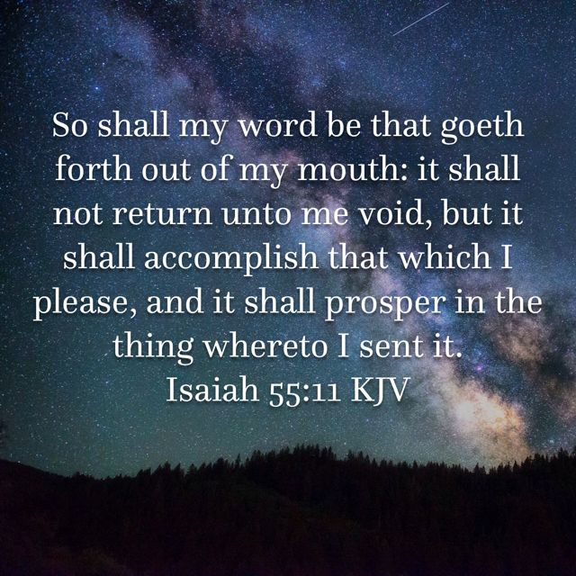Image result for Isaiah 55:11 kjv