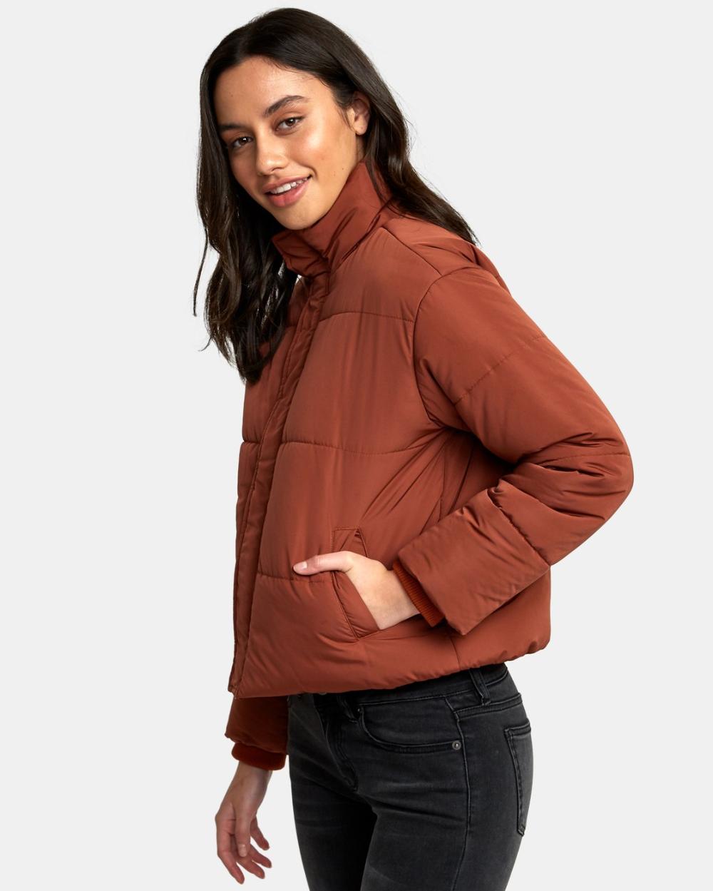 Eezeh Puffer Cropped Jacket W703qree Crop Jacket Puffer Jacket Style Jackets [ 1249 x 1000 Pixel ]