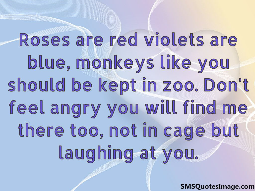 Roses Are Red Violets Are Blue Funny Sms Quotes Image