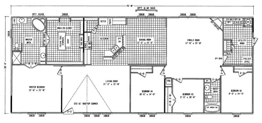 Wonderful Double Wide Floor Plans 4 Bedroom ... 4 Bedroom Double ...