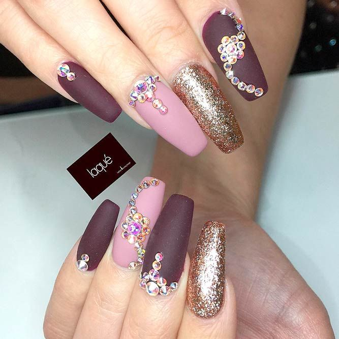 21 Burgundy Matte Nails Designs That Drop Your Jaw Off Makeup
