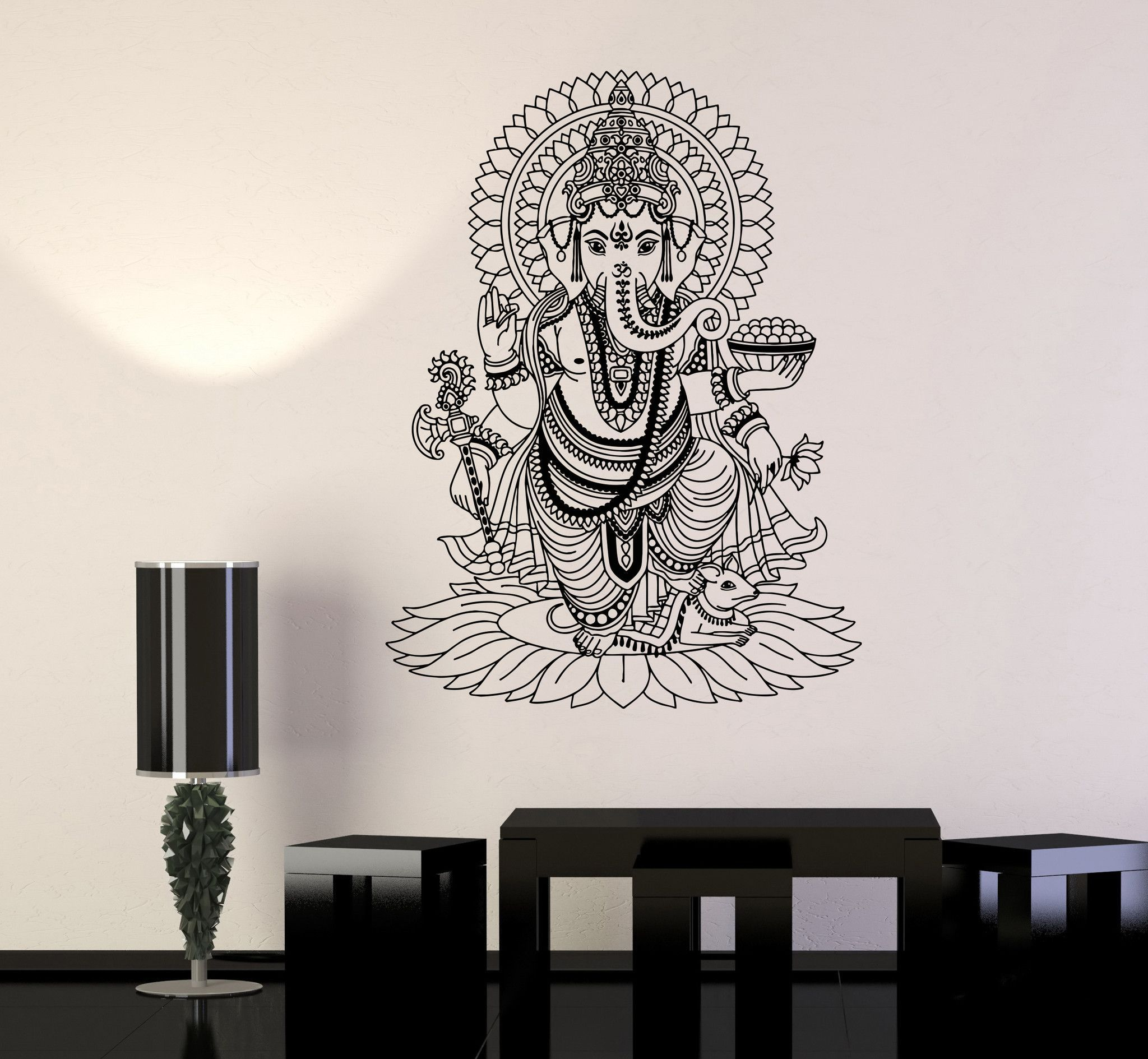 Vinyl Wall Stickers Ganesha India Hindu God Home Decoration Mural - Wall decals india