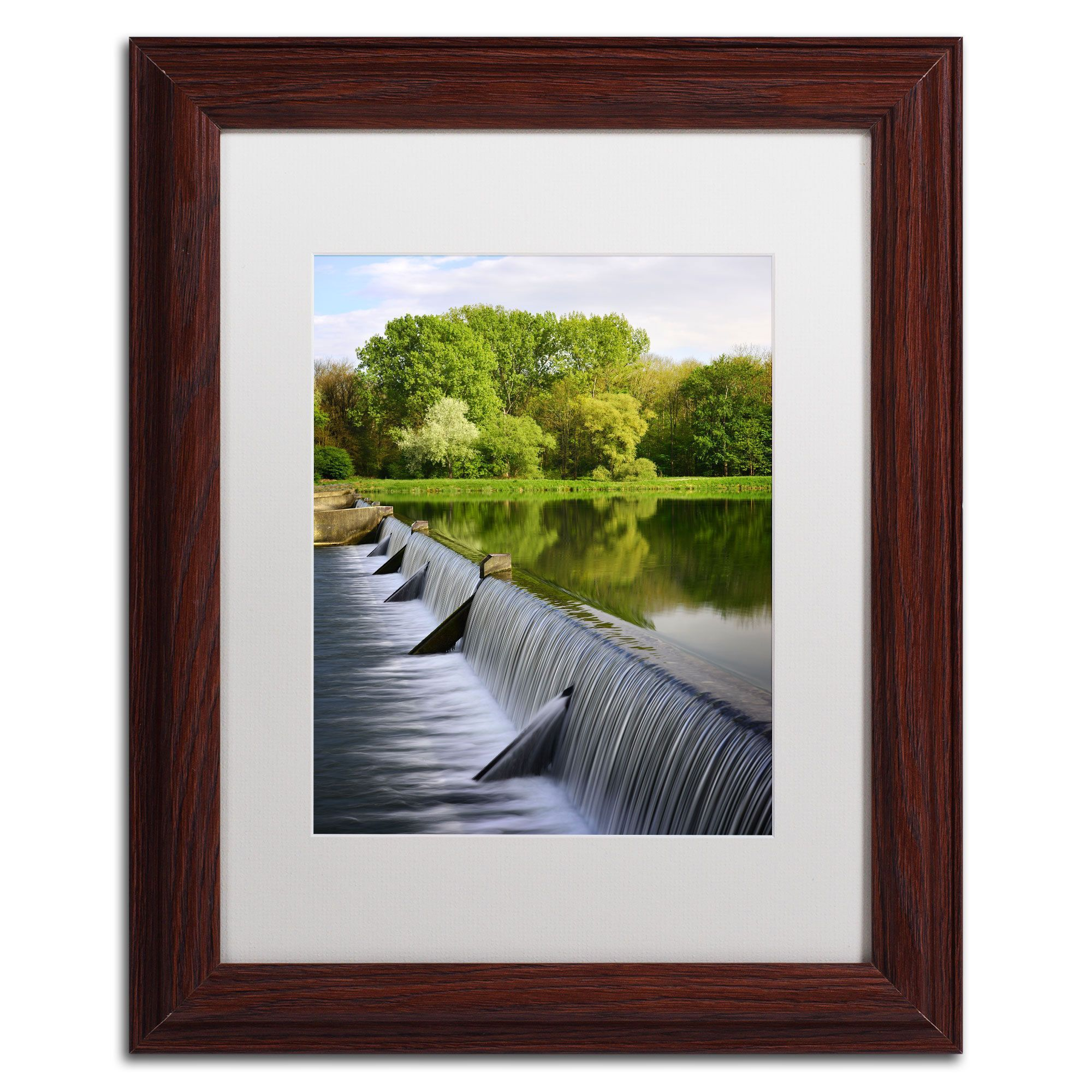 Philippe Sainte-Laudy 'Vertical Activity' Framed Matted Art
