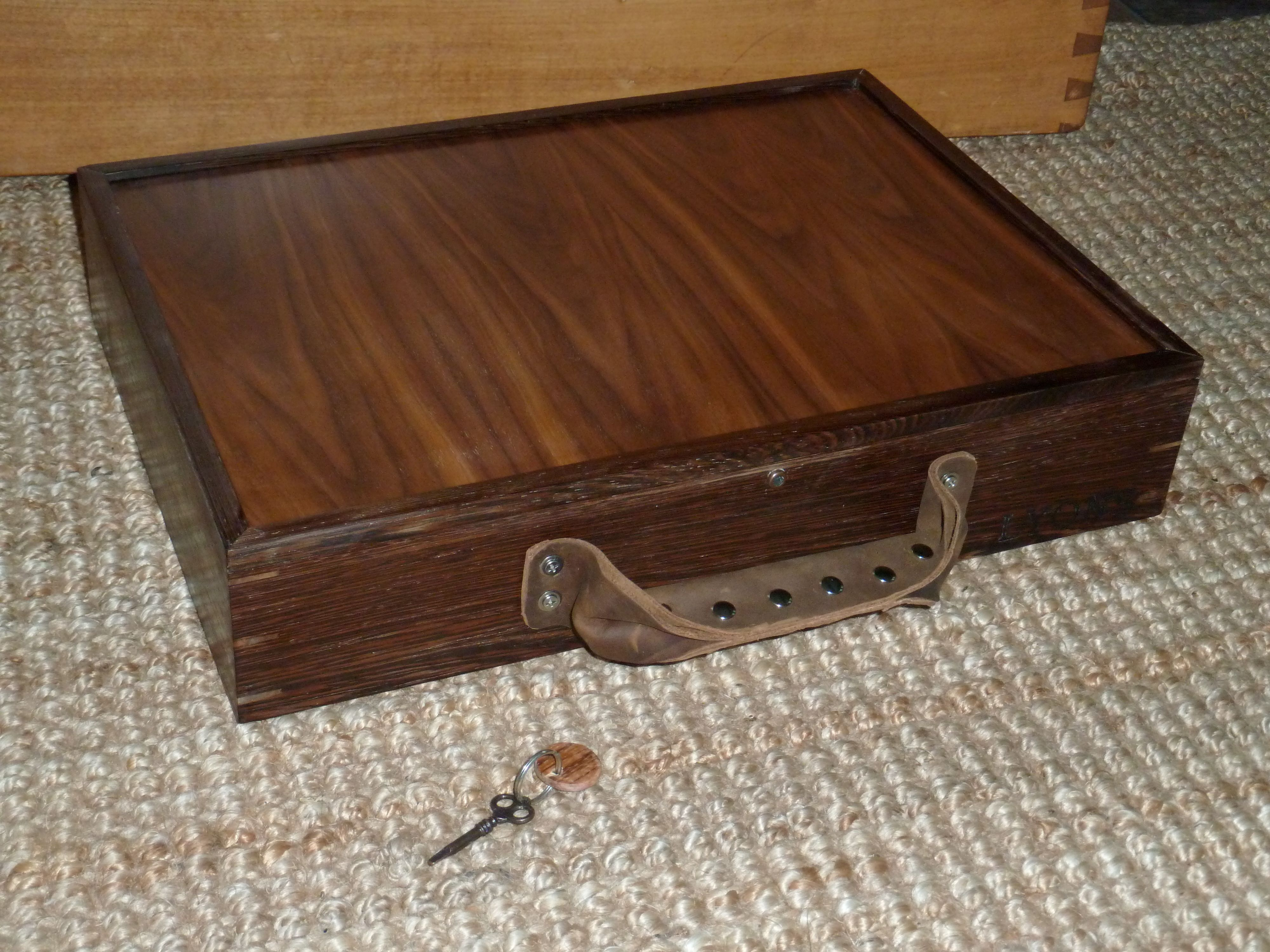 Wenge And Walnut Custom Locking Briefcase With Homemade