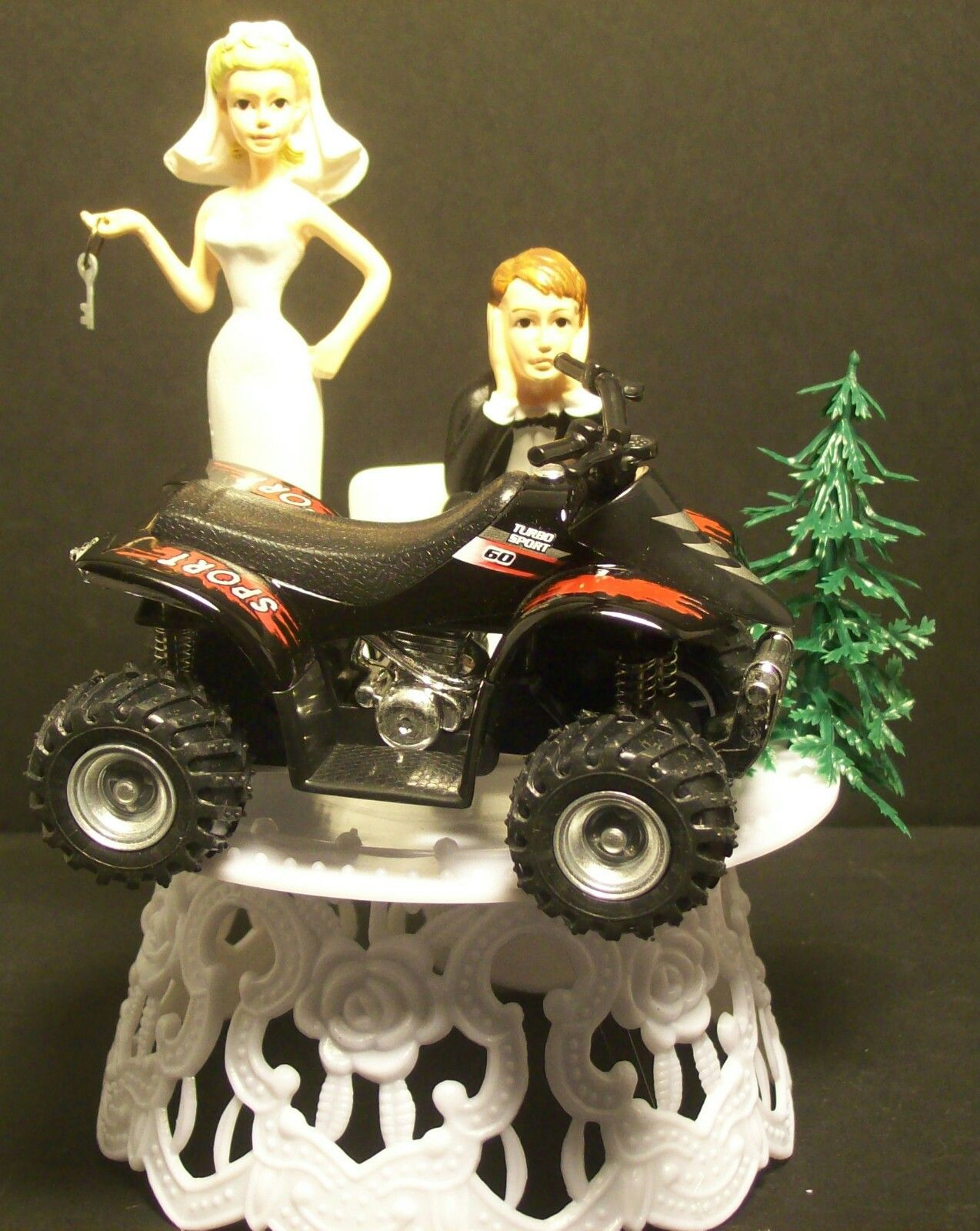 Sporty Atv Wedding Cake Topper Should Ve Had This For Our Cake Topper Lol Wedding Cake Toppers Cute Date Ideas Wedding Cakes