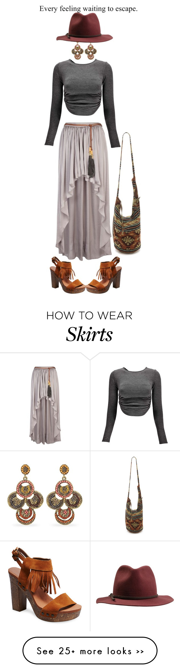 """""""Maxi skirt"""" by beachan on Polyvore"""