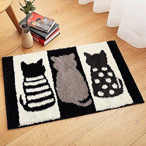 Beau Bathroom Mat, MoreCare Cut Cats Microfiber Soft Non Slip Absorbent Machine Washable  Bathroom Bedroom Kitchen Floor Rug Carpet, 20 X 32 Inch | Pinterest ...