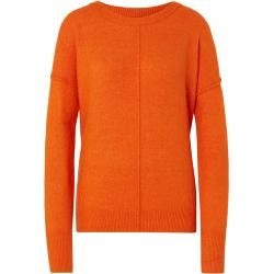 Photo of Tom Tailor Denim Damenstrickpullover mit Rundhalsausschnitt, orange, schlicht, Größe L Tom TailorTom
