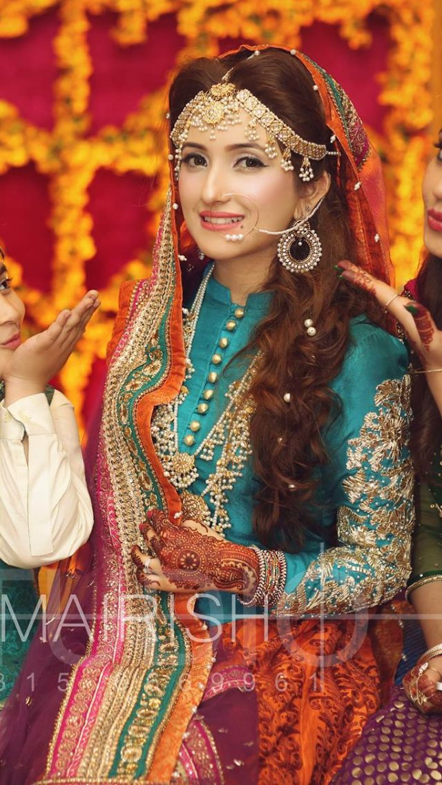 Love the colors not the look brides pinterest for Pakistani wedding traditions