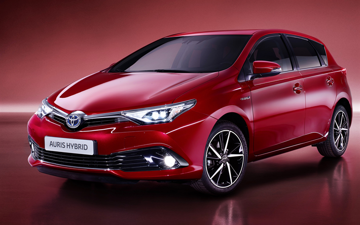 download wallpapers toyota auris hybrid 2018 cars 4k red auris japanese cars toyota cars. Black Bedroom Furniture Sets. Home Design Ideas