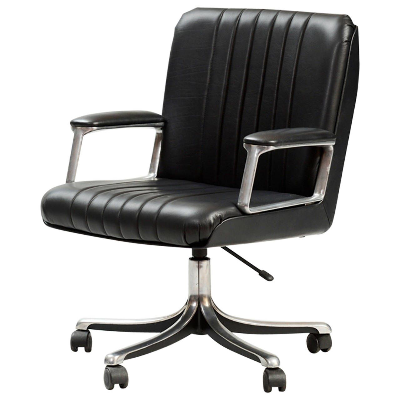 Osvaldo Borsani P126 Desk Chair | From a unique collection of antique and modern office chairs and desk chairs at https://www.1stdibs.com/furniture/seating/office-chairs-desk-chairs/