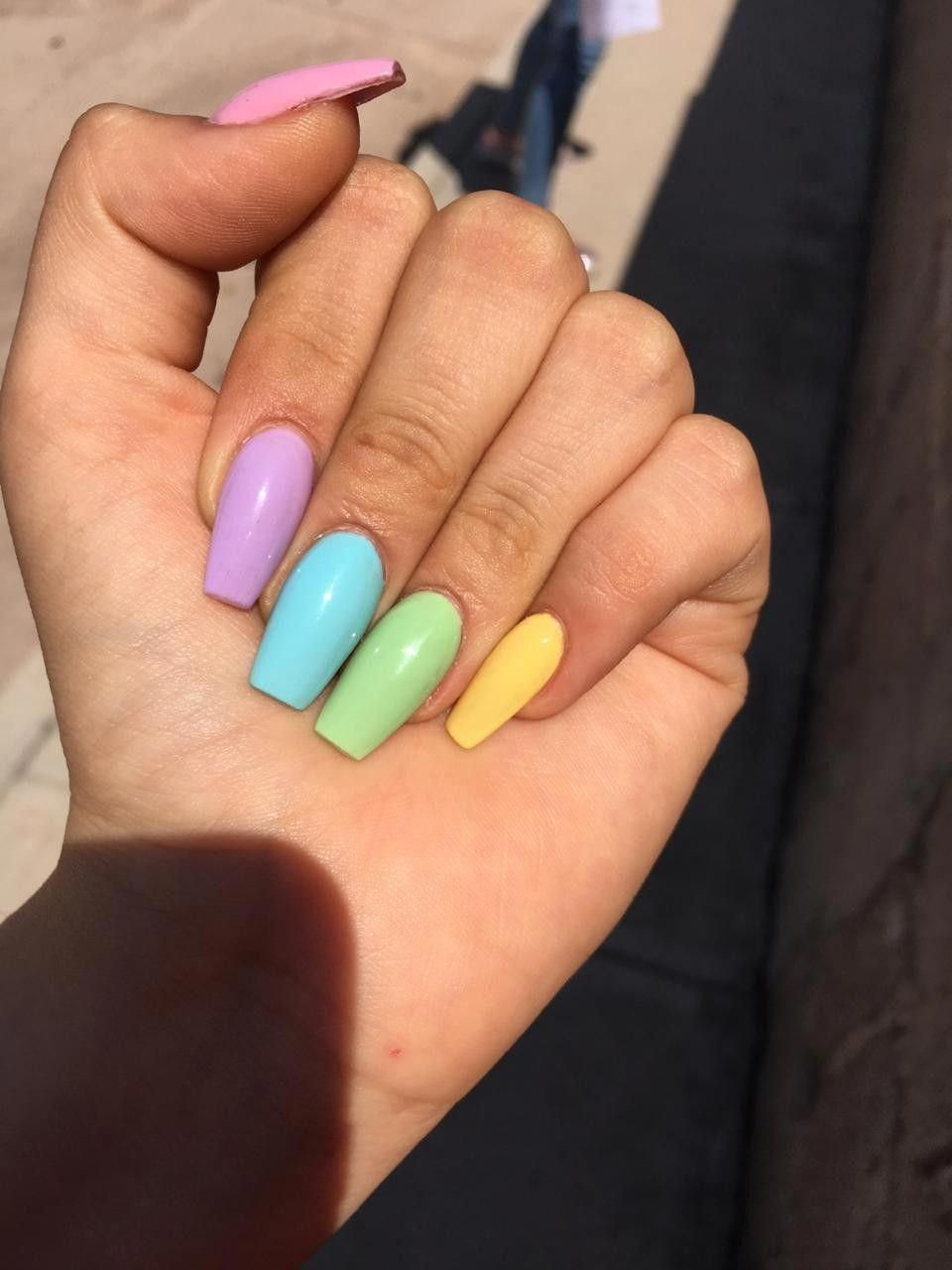 Increibles Unas Trendy Pastelnails Nails For Kids Summer Acrylic Nails Best Acrylic Nails