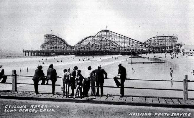 Cyclone Racer Roller Coaster Long Beach Ca City California