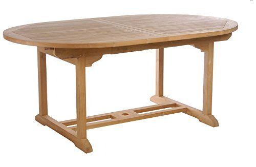 Teak Elzas Oval Extension Table Made By Chic Teak Dining Table