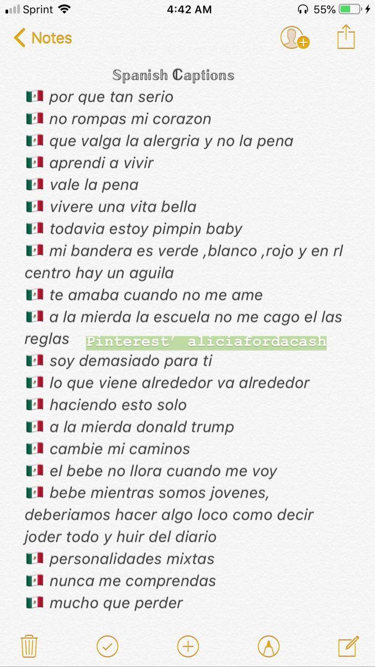 Good Spanish Captions : spanish, captions, Selfie, Captions, Spanish, Instagram, Daily, Quotes