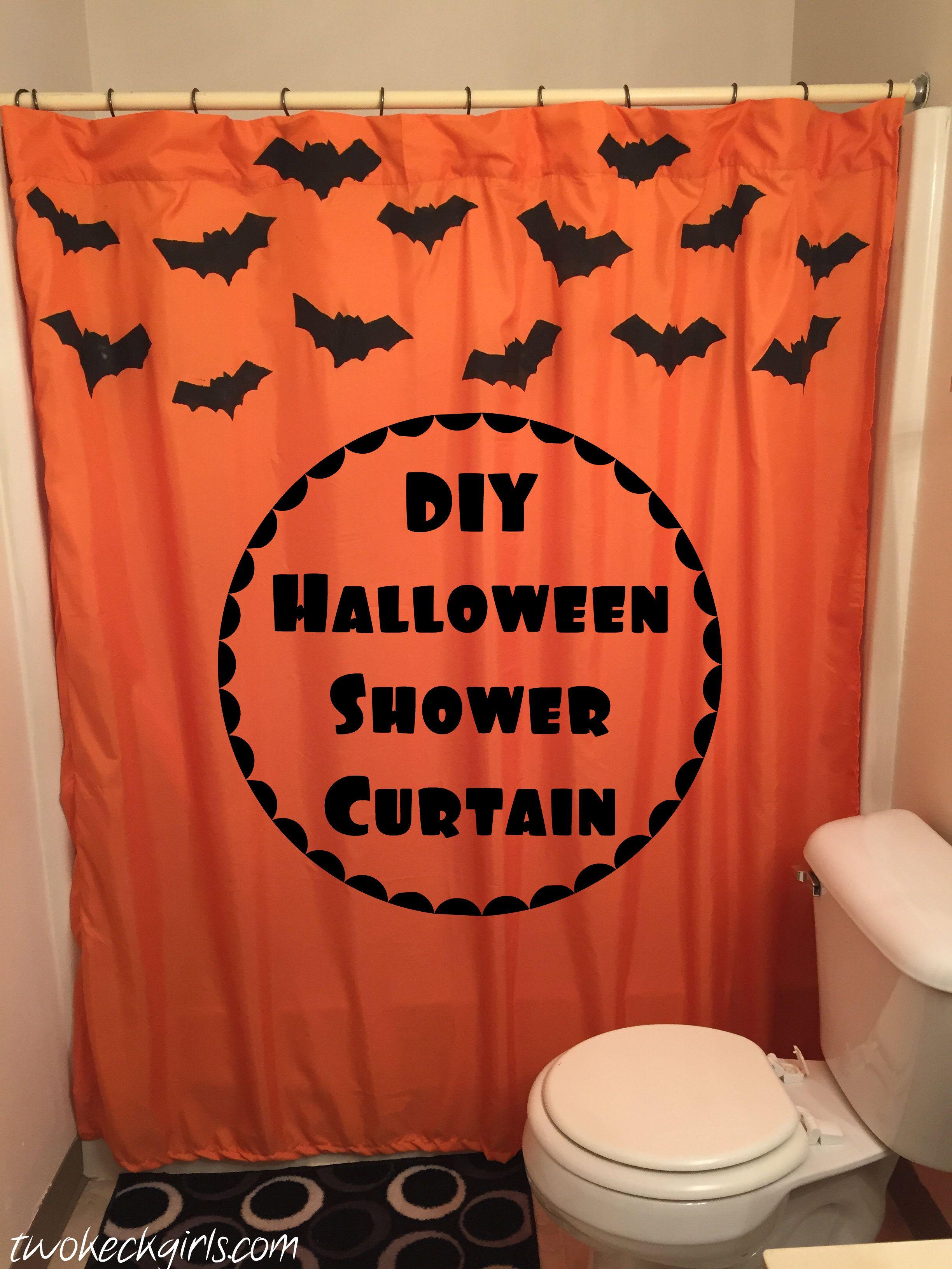 Charmant DIY Shower Curtain Halloween
