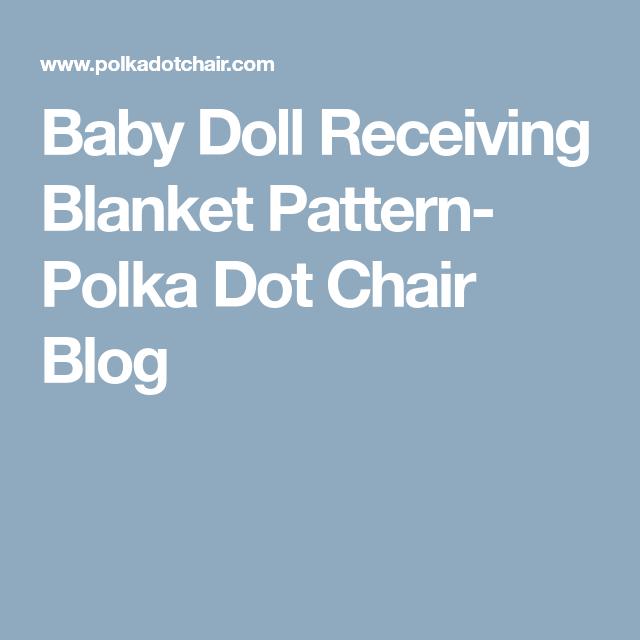 Baby Doll Self-Binding Blanket Pattern