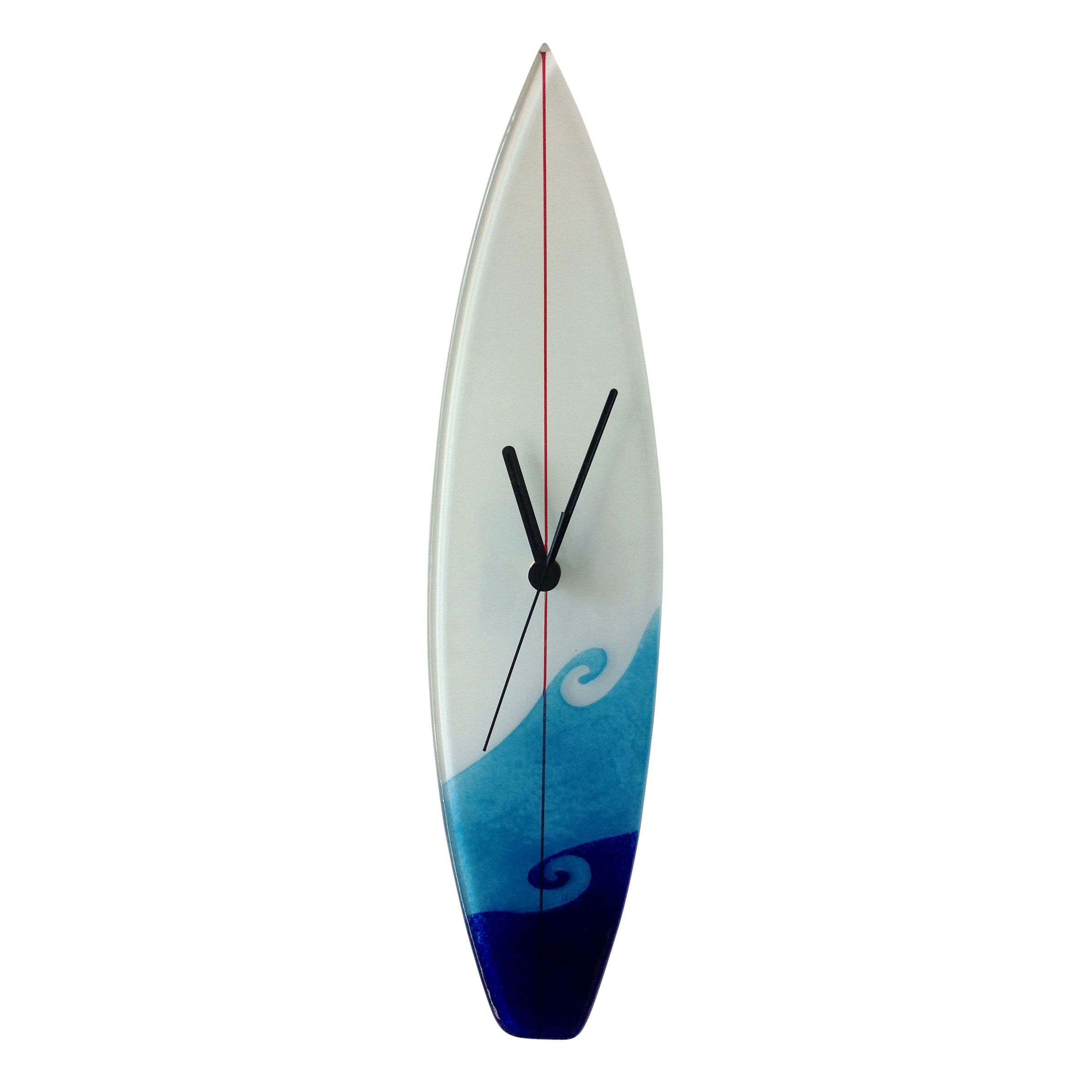 MIXED WAVES SURFBOARD STYLE CLOCK