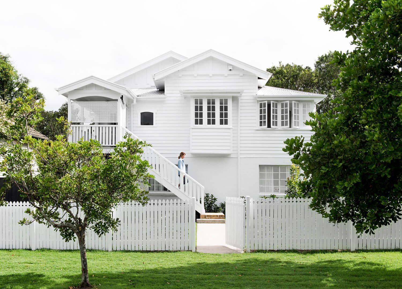 A Queenslander Reno Facade Queenslander house White