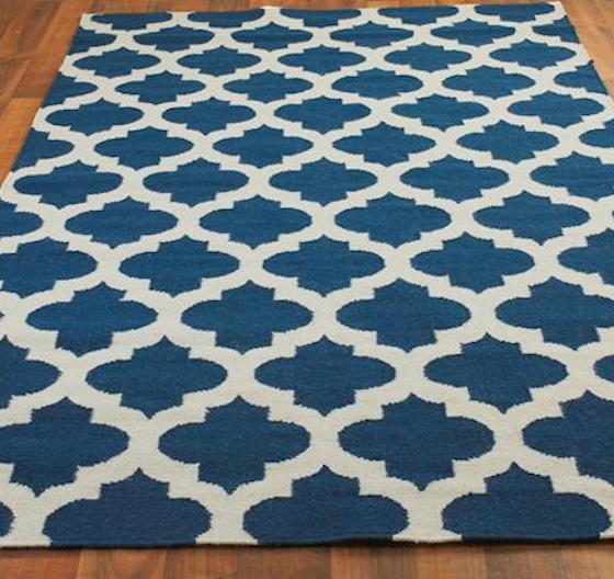Navy Blue Geometric Trellis Rug Love This For A Modern Nursery Boy Or