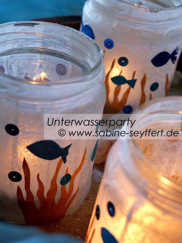 Unterwasserfest: Stimmungsvolle Partylichter – maritimes Upcycling & Dekoidee | Blog Sabine Seyffert