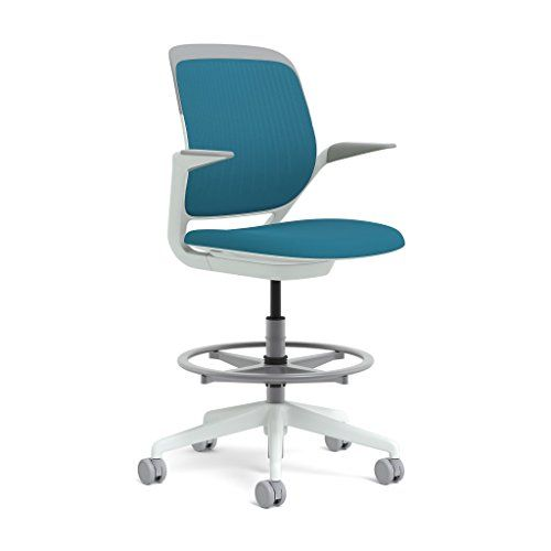 Best Steelcase White Base With Hard Floor Casters Cobi Stool Blue Jay Hard Floor Contemporary 400 x 300