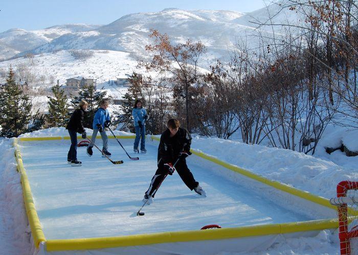 NiceRink Cool Backyard Ice Rink Kit   Backyard ice rink ...