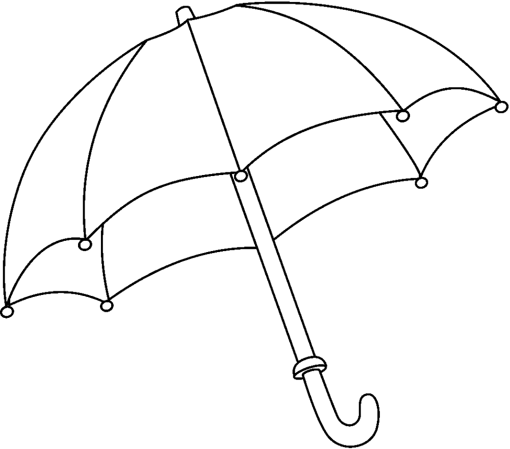 Free Coloring Pages Of Clip Of Umbrella Clip Art Library Umbrella Drawing Book Clip Art Umbrella