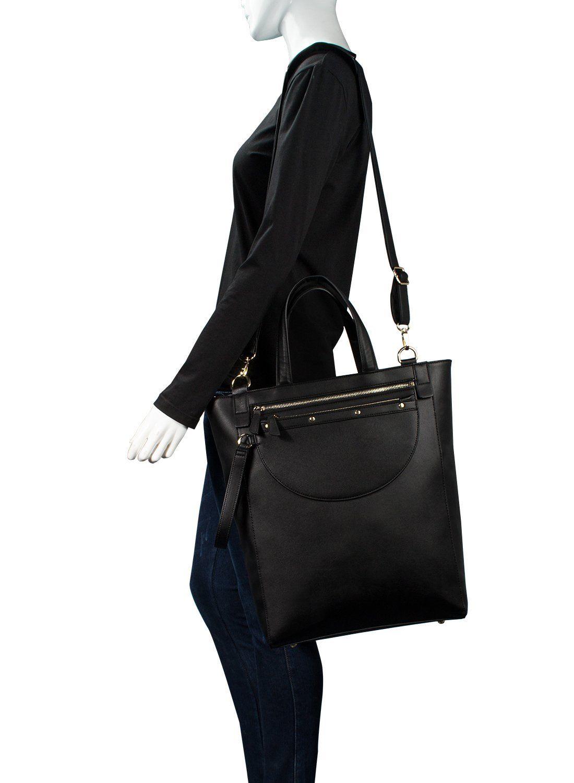 Estarer Women Large Handbag With Purse Pu Leather Tote Black Shoulder Bag Co