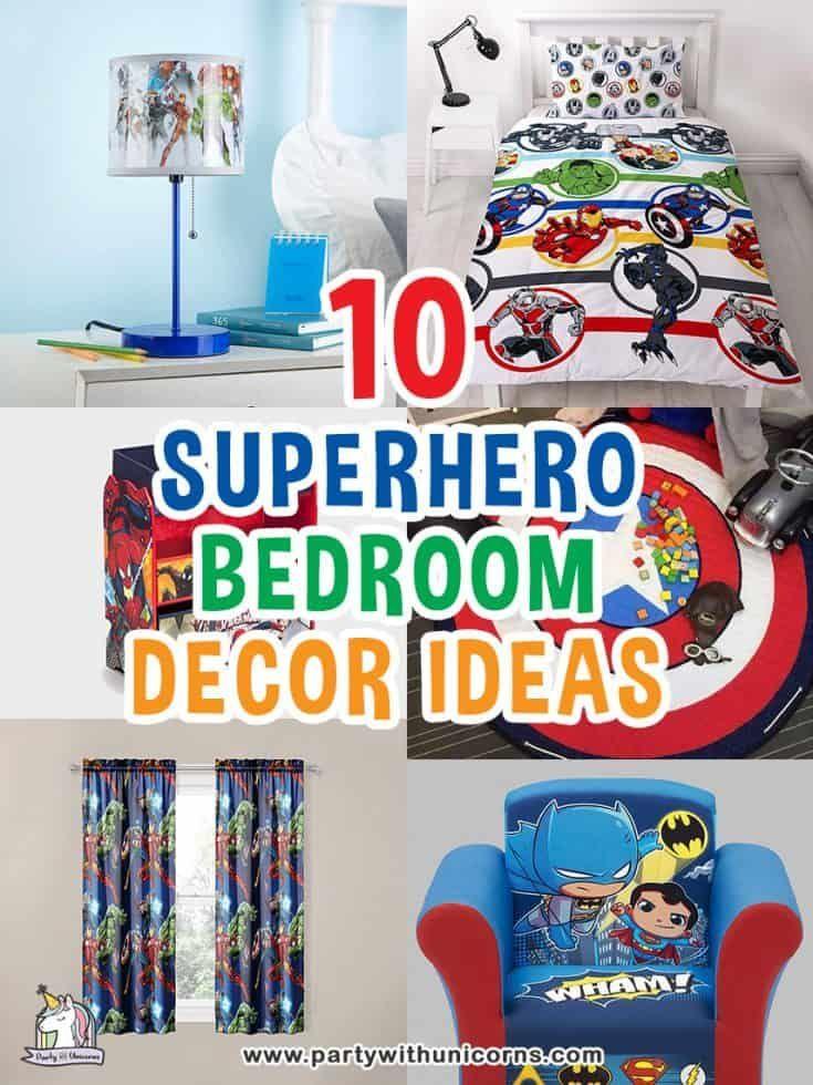 10 cool superhero bedroom decor ideas  superhero bedroom