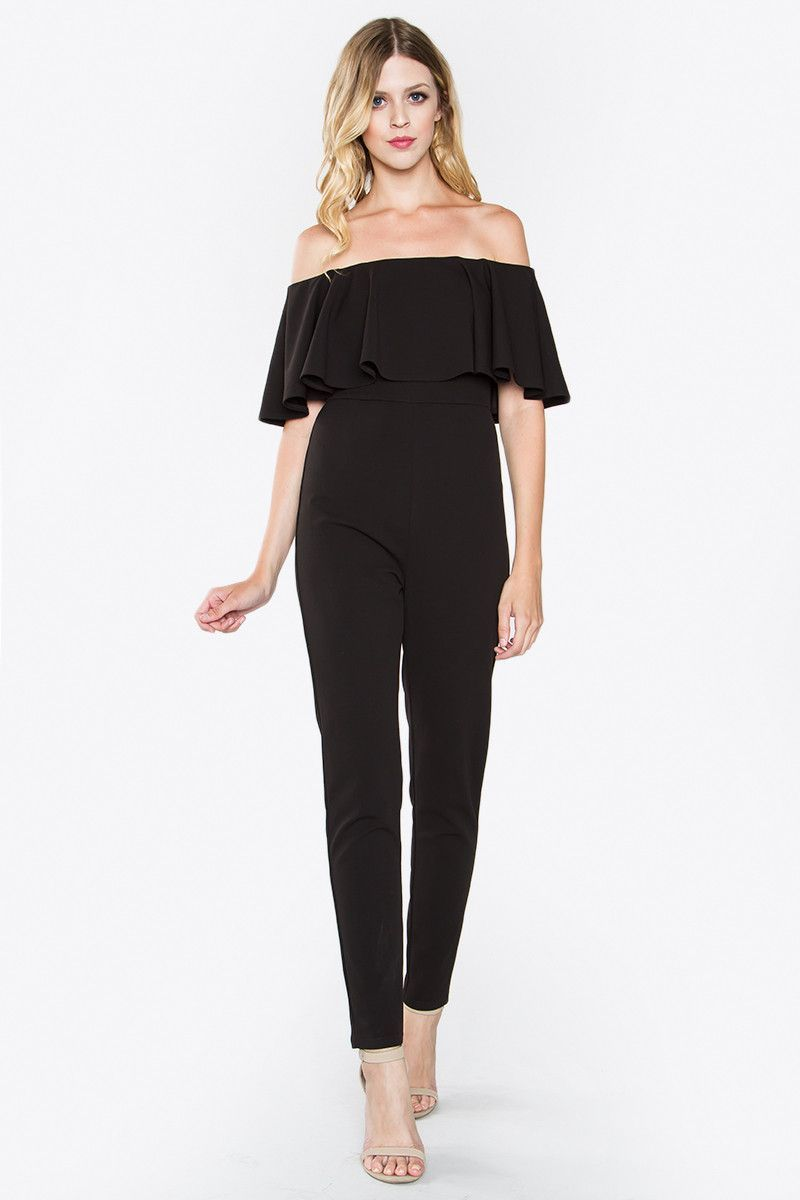 da126232124 Itzel Off The Shoulder Jumpsuit