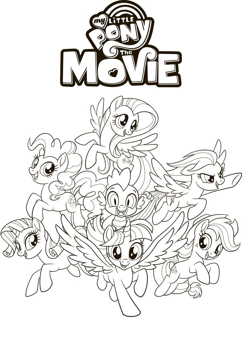 My Little Pony Coloring Pages Pdf Friends In 2020 My Little Pony Coloring My Little Pony Movie My Little Pony Characters