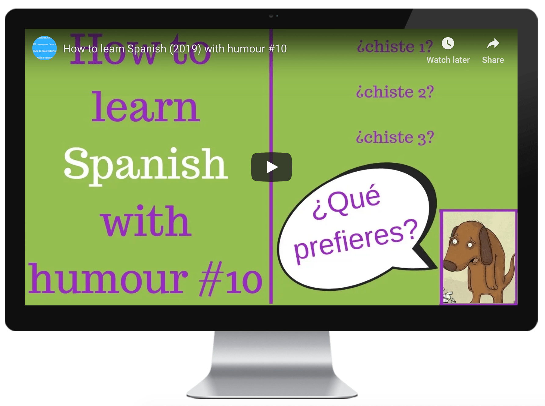 through humour Learning spanish, Spanish learning apps