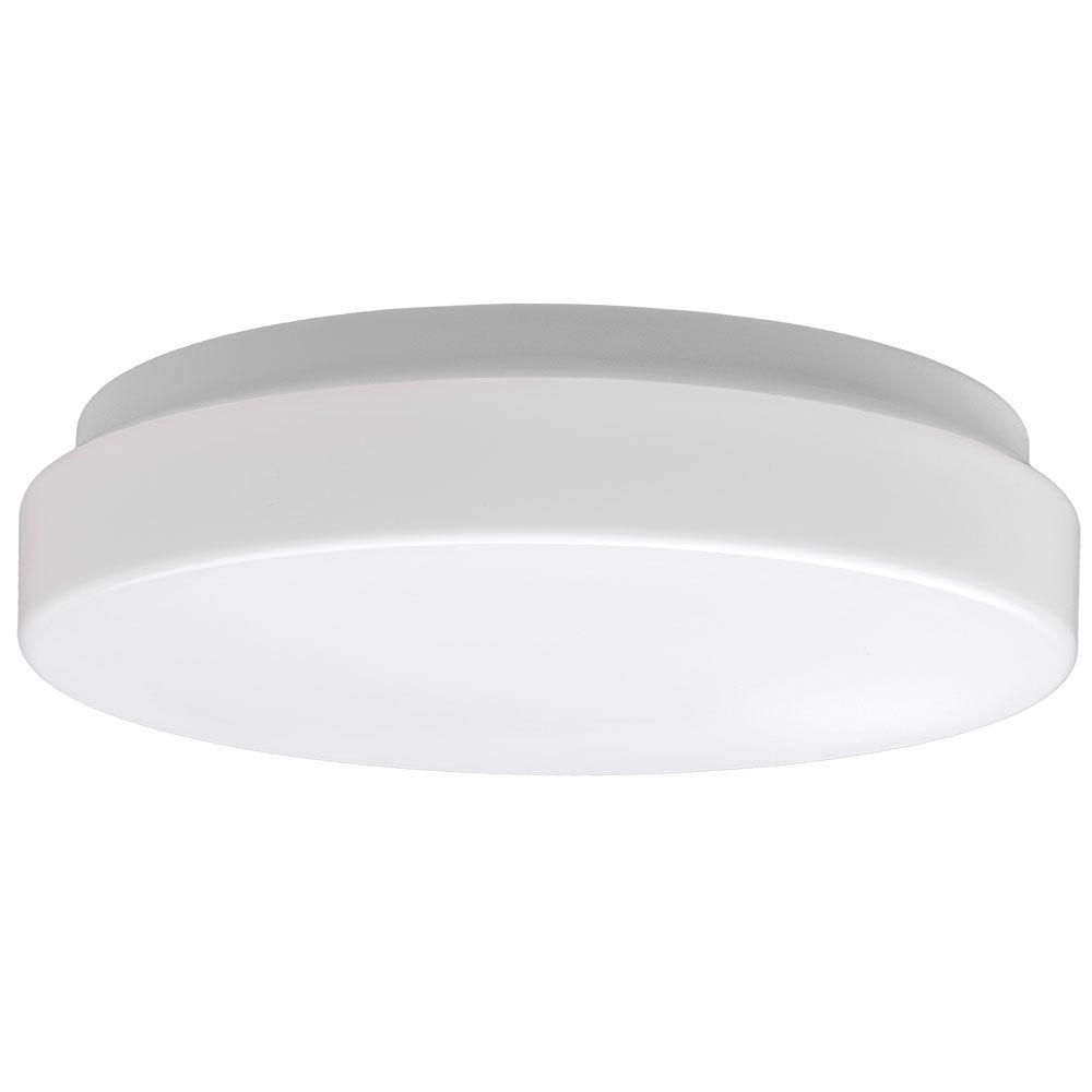 Commercial Electric Low Profile 7 In White Round 4000k Bright
