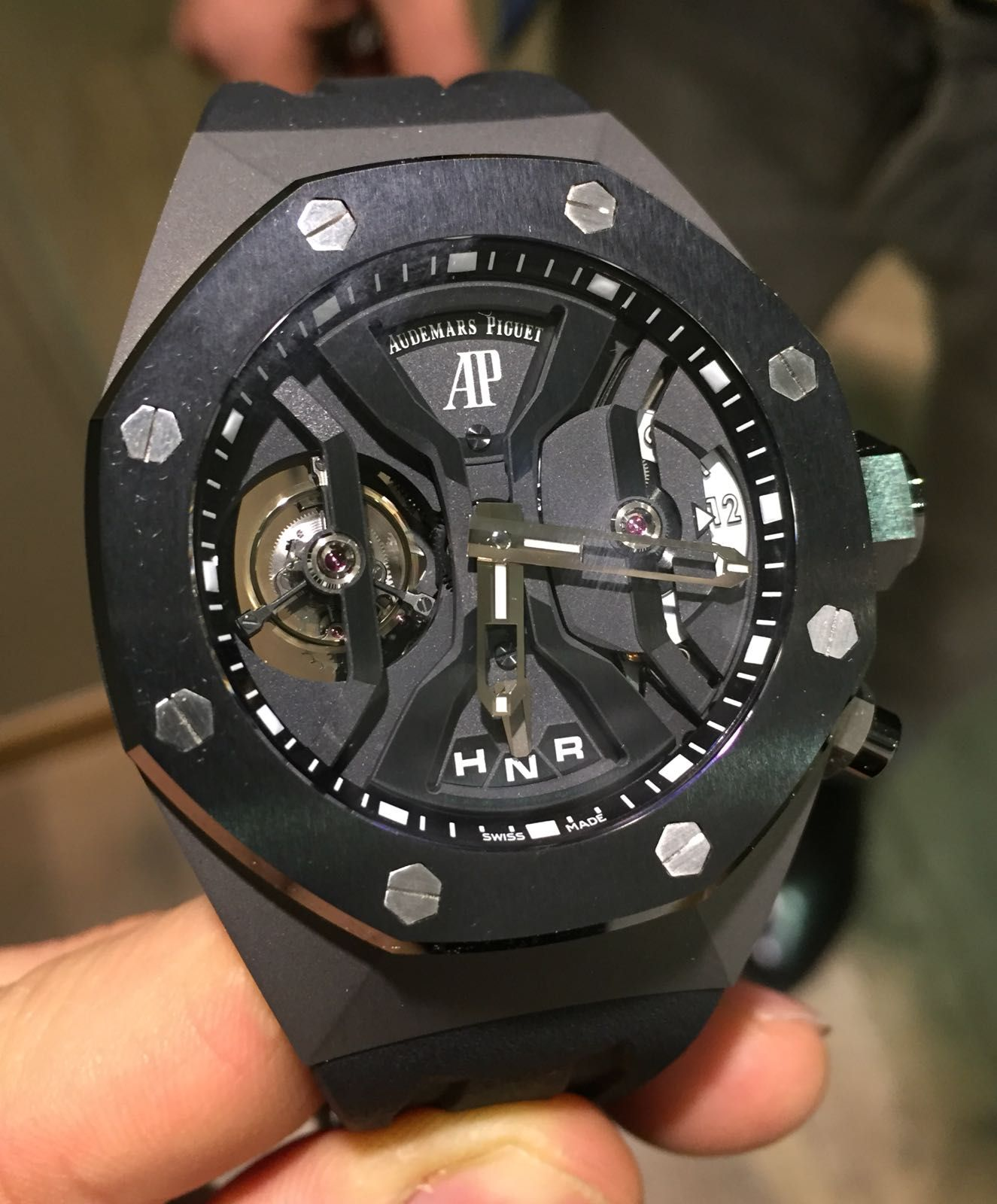 Audemars Piguet New Old Stock Tourbillon Concept Openworked