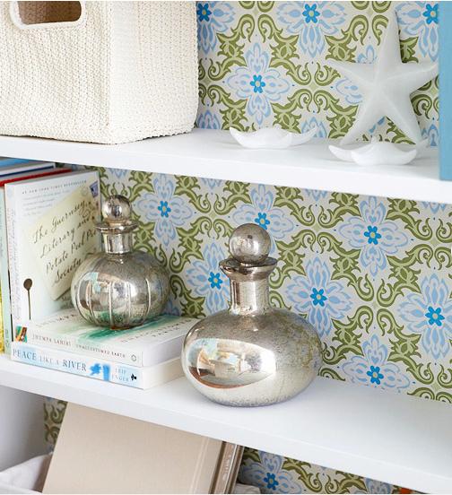 An Easy Idea To Pretty Up A Plain White Book Shelf