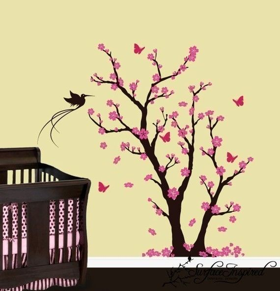 I am in love with tree wall decals, mainly Cherry Blossom | Baby ...
