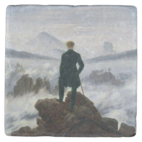 Photo of The Wanderer above the Sea of Fog Stone Coaster | Zazzle.com