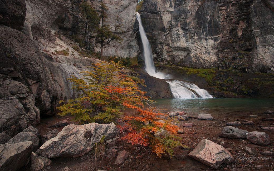 Chorrillo del Salto. Los Glaciares National Park, Patagonia, Argentina.    - Fitzroy-Cerro-Torre-Perito-Moreno-Patagonia-Argentina - Mike Re...