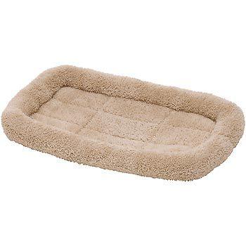 Petco Cream Fleece Bolster Mat For Dogs Dog Crate Mat And Pet