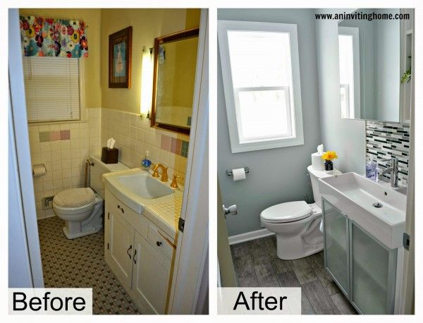 Remodelaholic Modern Bathroom Update Cheap Bathroom Remodel Inexpensive Bathroom Remodel Small Bathroom Renovations