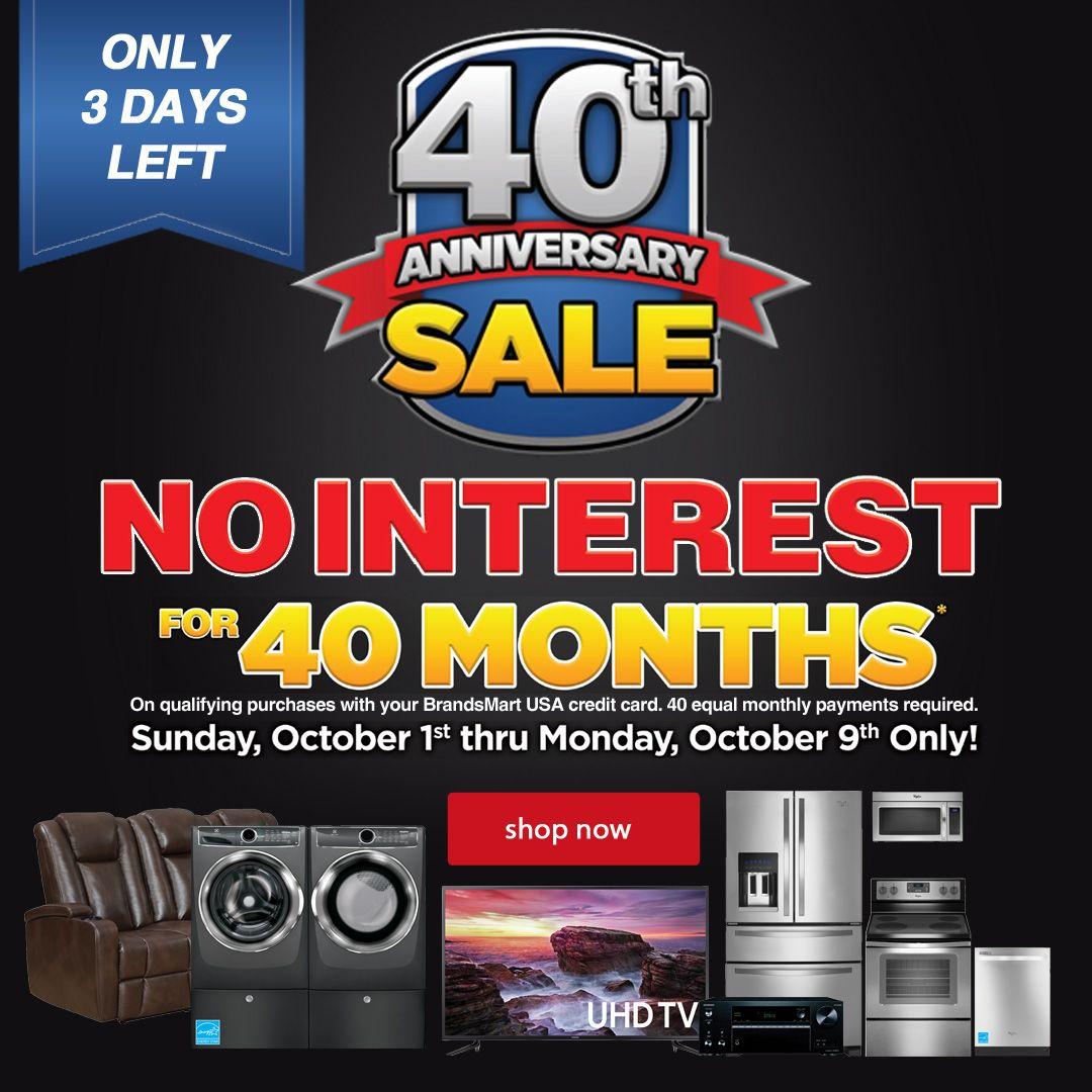 BrandsMart USA 40th Anniversary Sale 3 Days Left! 0