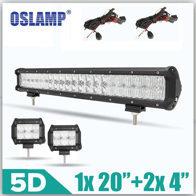 "56.99$  Watch here - http://ali5kg.worldwells.pw/go.php?t=32690749286 - ""Oslamp 5D Lens Car LED Light Bar Sets 1x 210W 20""""+2x 30W 4"""" Work Light Led Bar 12v 24v Truck SUV ATV Combo Led Offroad Light Bar"" 56.99$"