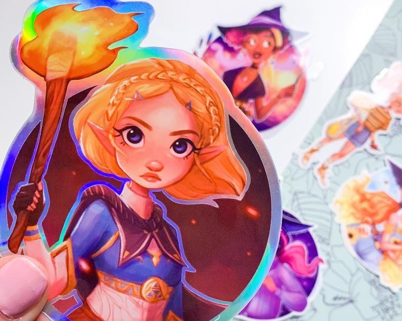 Holographic Breath of the Wild 2 Zelda Sticker made by erikathegoober