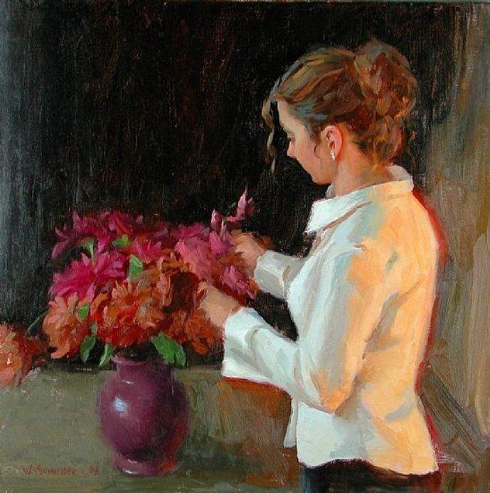 Schneider, William A - Arranging Flowers