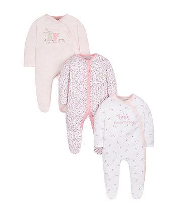 6c60f35e8 Bunny Sleepsuits - 3 Pack