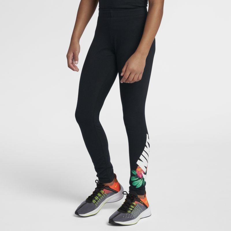 40f2ae90c551f2 Nike Sportswear Older Kids' (Girls') Floral Leggings - Black in 2019 ...