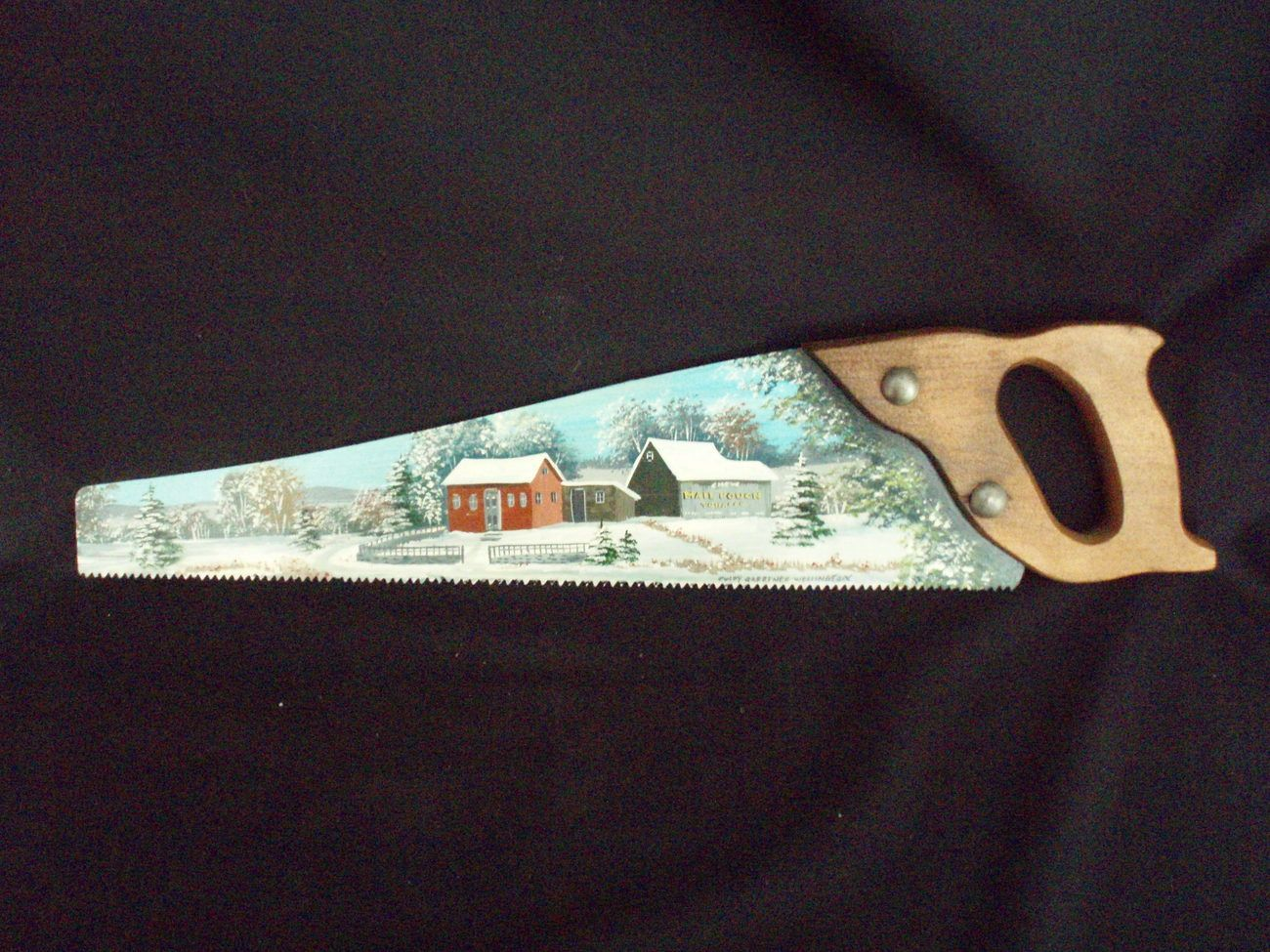 Small hand saw for crafts - Painted Handsaw See The Small Card With The Code On It The Seller Printed