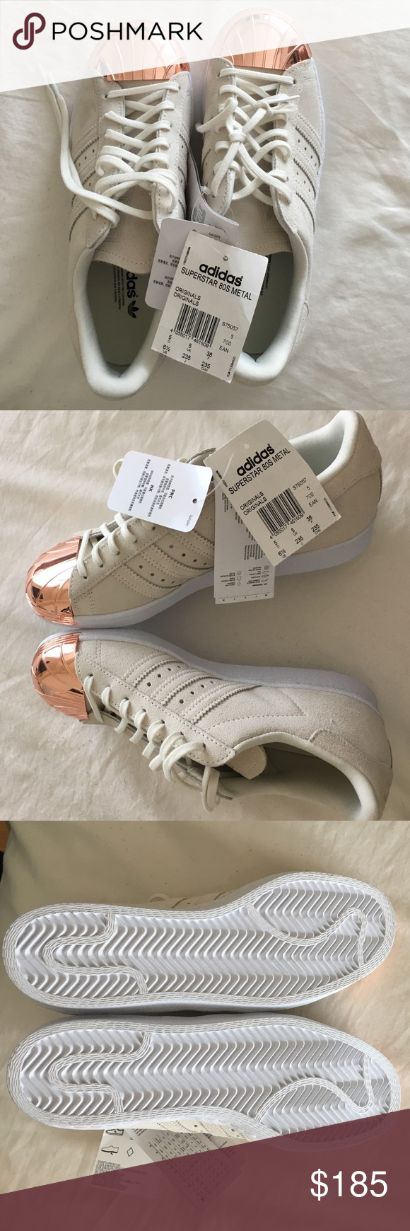 huge selection of 7cd1b 598f6 Adidas Superstar 80 s Rose gold Toe sneakers Brand new with tags, never used,  no damages, in its original package,increadible sneakers!! adidas Shoes ...