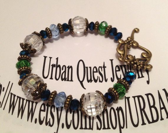 Crystal Clear Bracelet by URBANQUEST on Etsy, $15.00